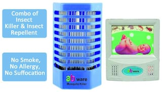 Ab ware Electronic Mosquito N Insect Killer Cum Night Lamp + Ab ware Insect Repellent for Home