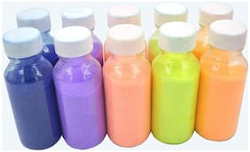 ab ware Floor Rangoli Art Attractive Colour Powder Bottles Rangoli Color Powder Set of 10