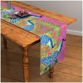 Abstract Pink Table Runner