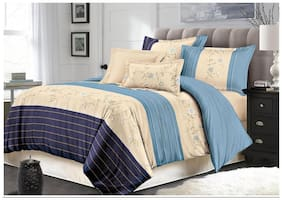 AC Comforter Set (4 Piece Combo Set of Double Comforter and Queen Size Bedsheets with 2 Pillow Covers)