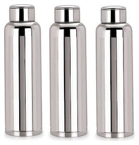 TBD 1000 ml Stainless Steel Silver Water Bottles - Set of 3
