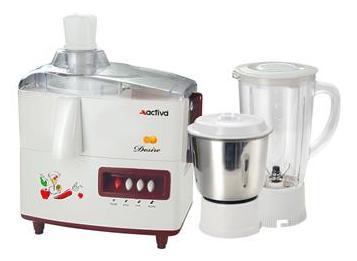 Activa Desire 450 Watts Juicer Mixer Grinder (White and Maroon/2 Jar)