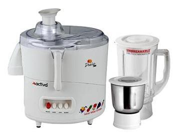 Activa Desire Plus 600 Watts Juicer Mixer Grinder (White/2 Jar)