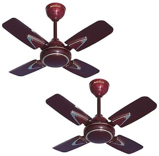 Activa GALAXY-1 600 mm Decorative Ceiling Fan ( Brown , Pack of 2 )