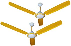 Activa SUPER FAN 3 Blades 1200 MM Ceiling Fan (Yellow) Pack Of 2