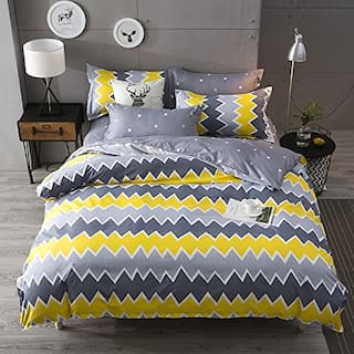ADIRAV Poly Cotton 3D Printed Double Size Bedsheet 104 TC ( 1 Bedsheet With 2 Pillow Covers , Grey )