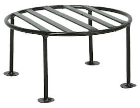 advancedestore Iron Plant Stand/Pot Stand (20 cm x 20 cm x 10 cm, Black)