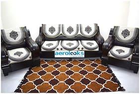 Aerolooks Cotton Floral Regular Use Sofa Cover