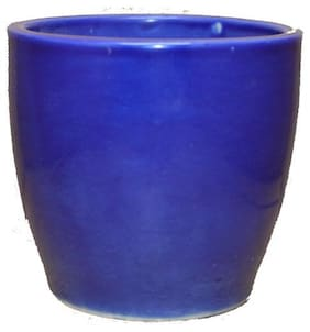 AFD Blue Pot Mat Finish for Home Decor (Creamic)