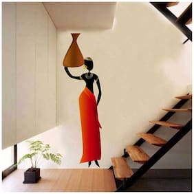 Rawpockets Wall Stickers  ' African Tribal women' Wall Decal Sticker '