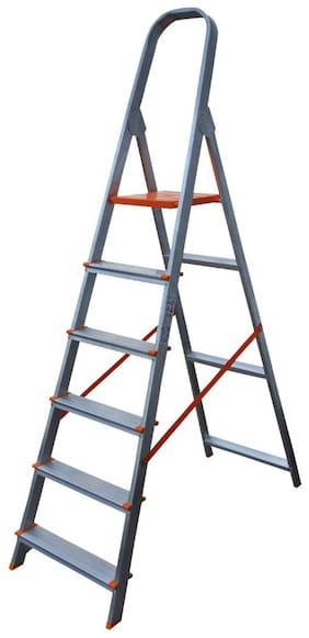 AGUERRI Aluminium 6 Steps Ladder ( Silver , Front Step )