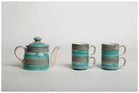 Ahaana Crafts Firdos Tea Pot Set