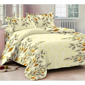 Ahmedabad Cotton Basics Cotton Double Bedsheet And 2 Pillow Covers