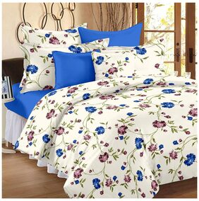 Ahmedabad Cotton Comfort Cotton King Size Bedsheet with 2 pillow covers (9ft x 9ft)