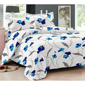 Ahmedabad Cotton Superior Cotton Double Bedsheet And 2 Pillow Covers