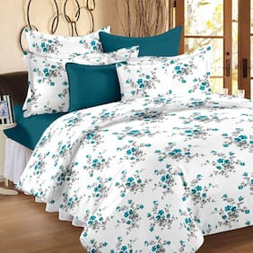 Ahmedabad Cotton Comfort Cotton Double Bedsheet And 2 Pillow Covers