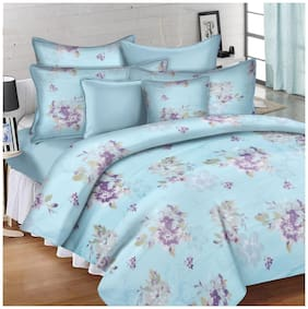 Ahmedabad Cotton Comfort Cotton King Bedsheet with 2 pillow covers - Blue