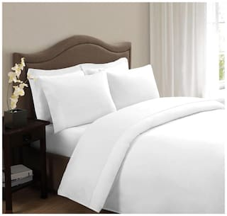 Ahmedabad Cotton Plain & Elegant Cotton Single Bedsheet