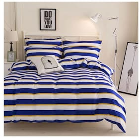 Ahmedabad Cotton Comfort King Size Bedsheet with 2 pillow covers - 9 ft x 9 ft