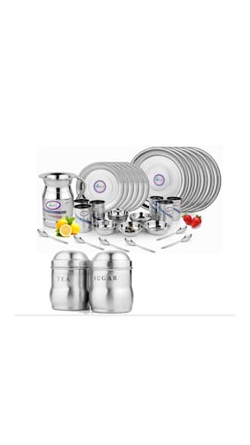 Airan Stainless steel Dinner Sets - Set of 37