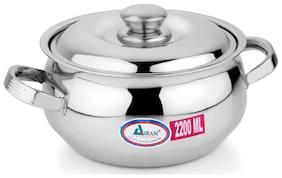 Airan Stainless Steel Belly Casserole 2200ml