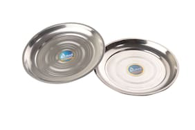 Airan Stainless Steel 2 Pcs Dinner Plates