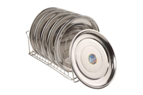 Airan Stainless Steel 6 Pcs Dinner Plates
