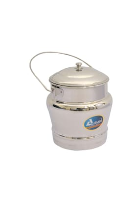 Airan Taj Mahal Stainless Steel Milk Pan Small