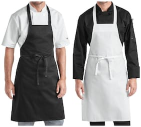 Airwill, 100% Cotton Designer Aprons with Premium Quality & Adjustable Size  65x80 cm and 1 Centre Pocket Sized 30x20cm & Free Straps