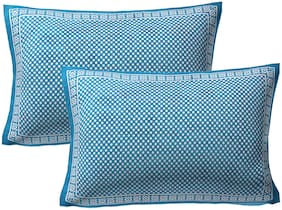 AJ Home Cotton Polka Dot Pillow Covers ( Pack of 2 , Turquoise )
