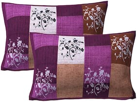 AJ Home 100% Cotton Floral Pillow Cover Set(Pack Of 2)-27x17 inch