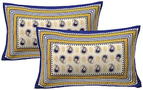 AJ Home Cotton Printed Pillow Covers ( Pack of 2 , Multi )
