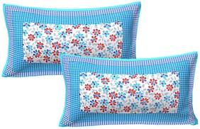 AJ Home Cotton Printed Pillow Cover Set(2 pcs)