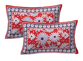 AJ Home Cotton Printed Pillow Covers ( Set Of 2 , Multi )