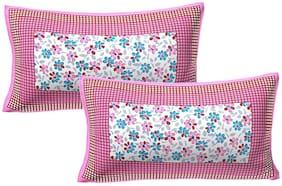 AJ Home Cotton Printed Pillow Cover Set(2 Pieces)