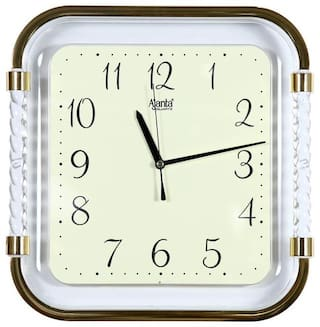 Ajanta Golden & White Wall clock