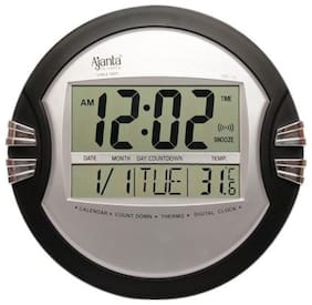 Ajanta ODC 110 Digital Wall Clock Black Silver Clock