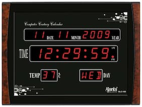 Ajanta Oreva Plastic Digital Wall clock ( Set of 1 )