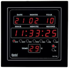 Ajanta Quartz Plastic Digital Wall clock ( Set of 1 )