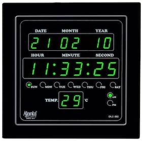 Ajanta OLC 302 Green Digital Wall Clock
