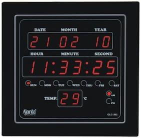 Ajanta Quartz Plastic Digital Wall clock ( Set of 1 )