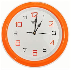 Ajanta Orange Wall clock