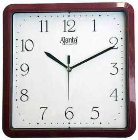 Ajanta Brown Wall clock