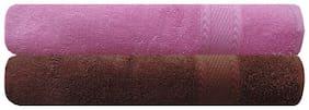 Akin 450 GSM Cotton Bath Towel ( 2 Pieces , Brown )
