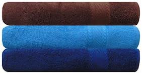 Akin Royal Multicolor Cotton Bath Towel - Set Of 3