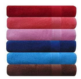 Akin 450 GSM Cotton Hand towel ( 6 pieces , Multi )