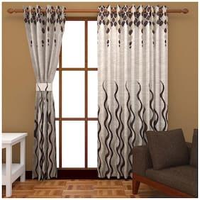 Akshaan Texo Fab Jute Curtain For Long Door set of 2