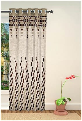 Akshaan Texo Fab Jute Curtain For Window 1 pc only