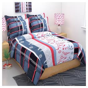 Akshaan Texo Fab Cotton 1 Double Bedsheet With 2 Pillow Cover