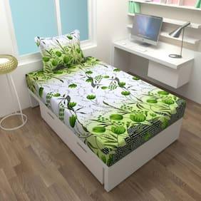 Akshaan Texo Fab Cotton 1 Single Bedsheet With 1 Pillow Cover